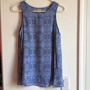 Tops - Blue patterned tank